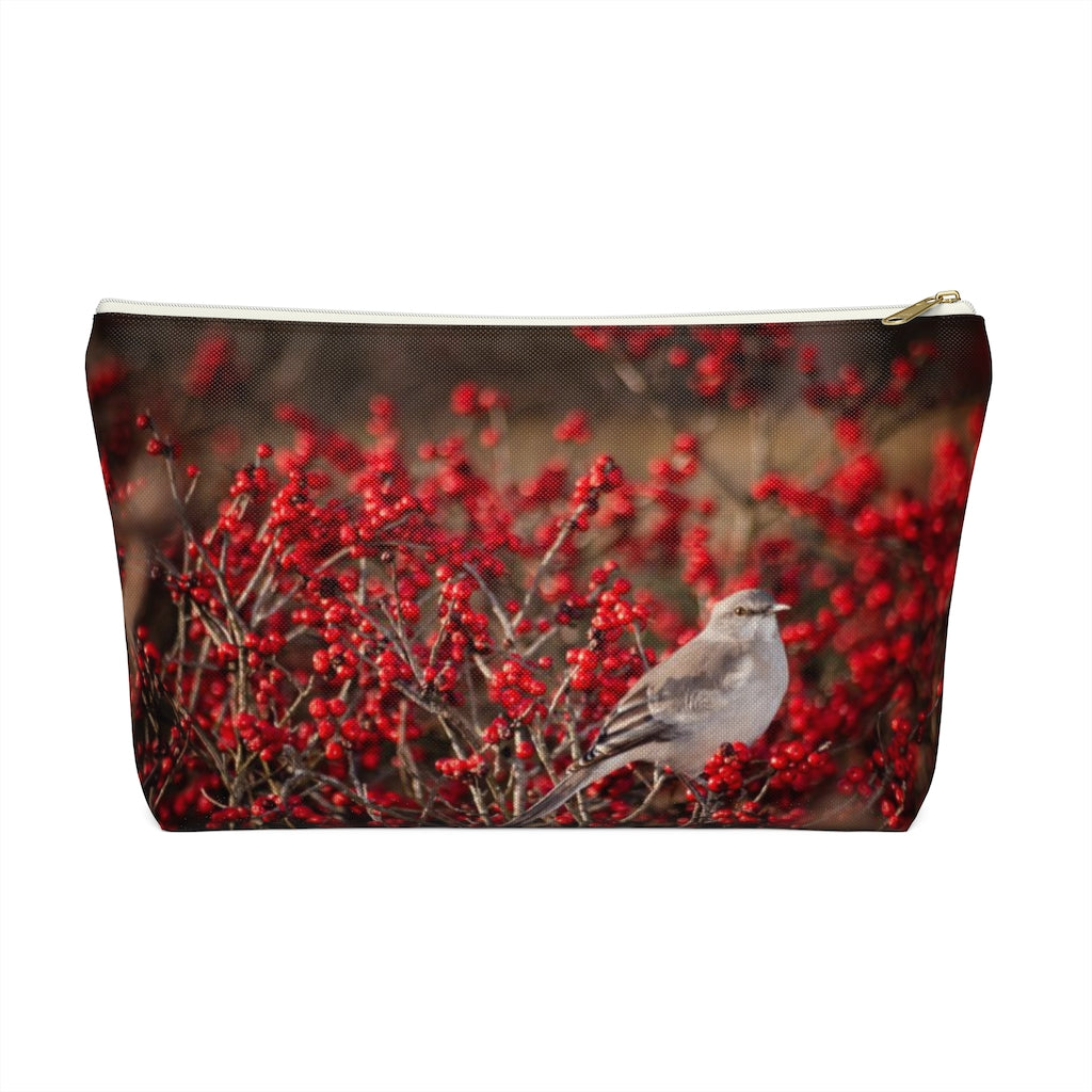Accessory Pouch w T-bottom: Bird in the Berries