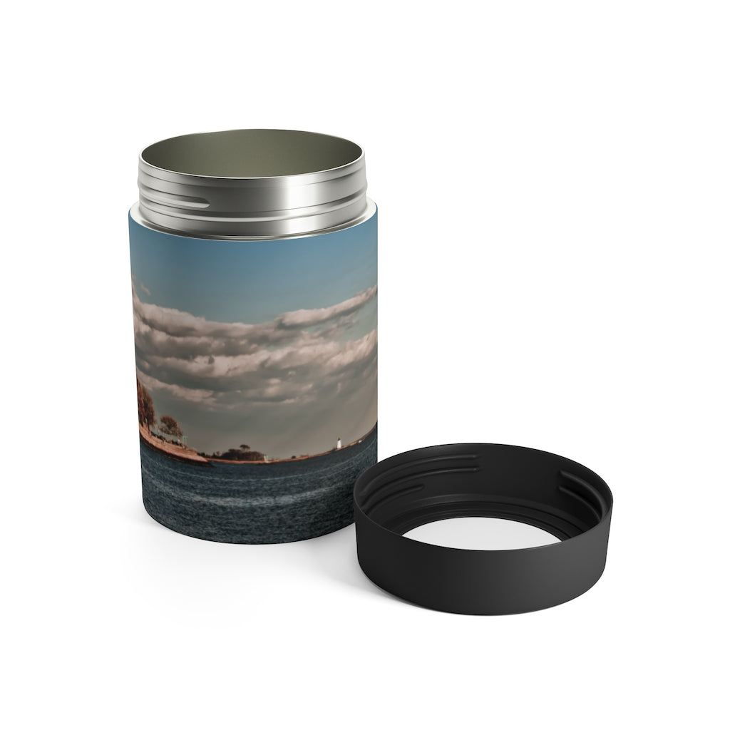 Can Holder: Coastal Autumn Scene