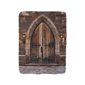 Sherpa Fleece Blanket: Church Doors