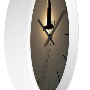Wall clock: Seagull in the Sun (with lines)