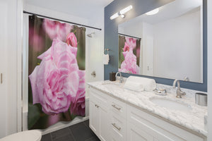 Shower Curtain: Pink Rose