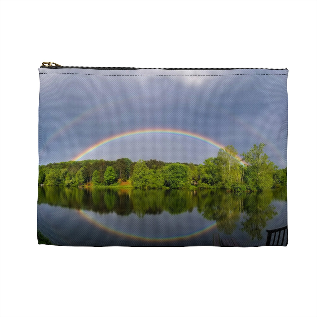 Accessory Pouch: Double Rainbow Over Lake