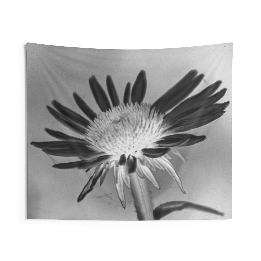 Indoor Wall Tapestries: Silver Flower