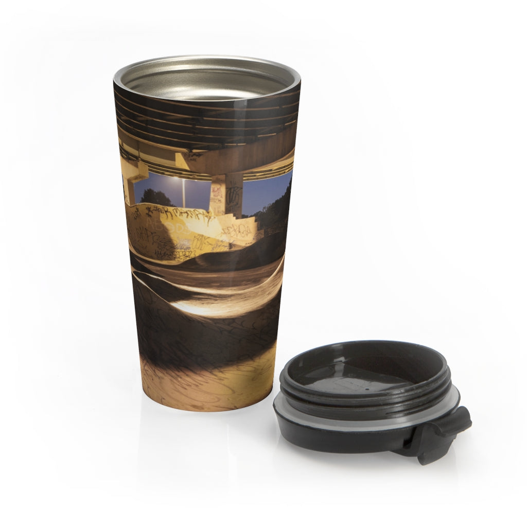 Stainless Steel Travel Mug: FDR Skate Park