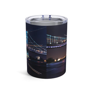 Tumbler 10oz: Benjamin Franklin Bridge at Night