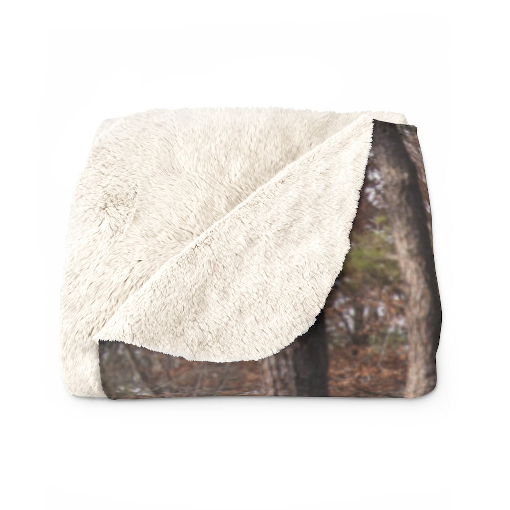 Sherpa Fleece Blanket: Water Mill