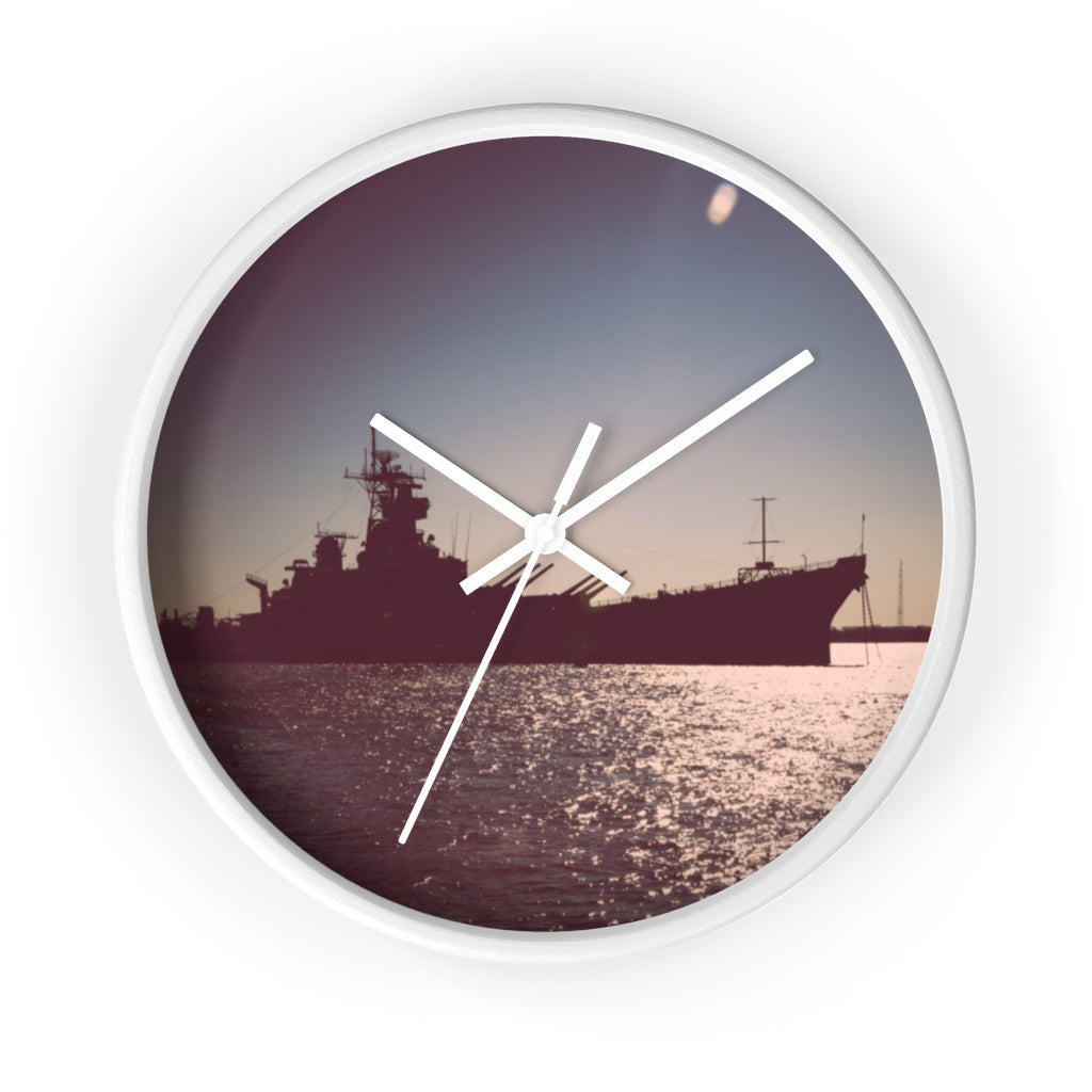 Wall clock: Battleship New Jersey