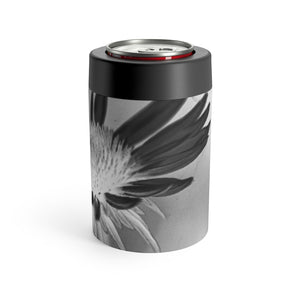 Can Holder: Silver Flower