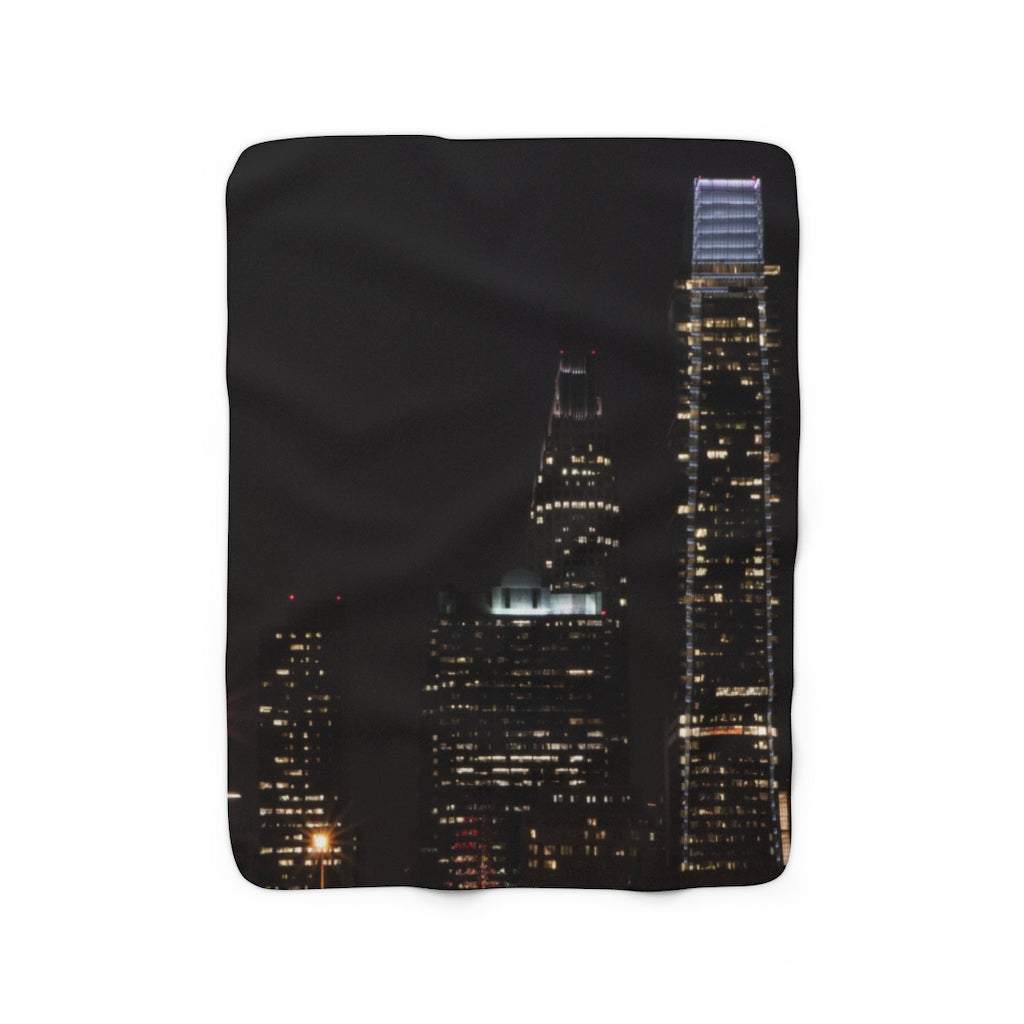 Sherpa Fleece Blanket: Philly at Night