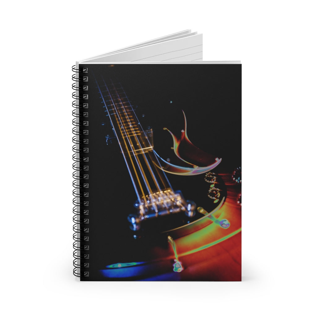 Spiral Notebook - Ruled Line - Guitar Lights
