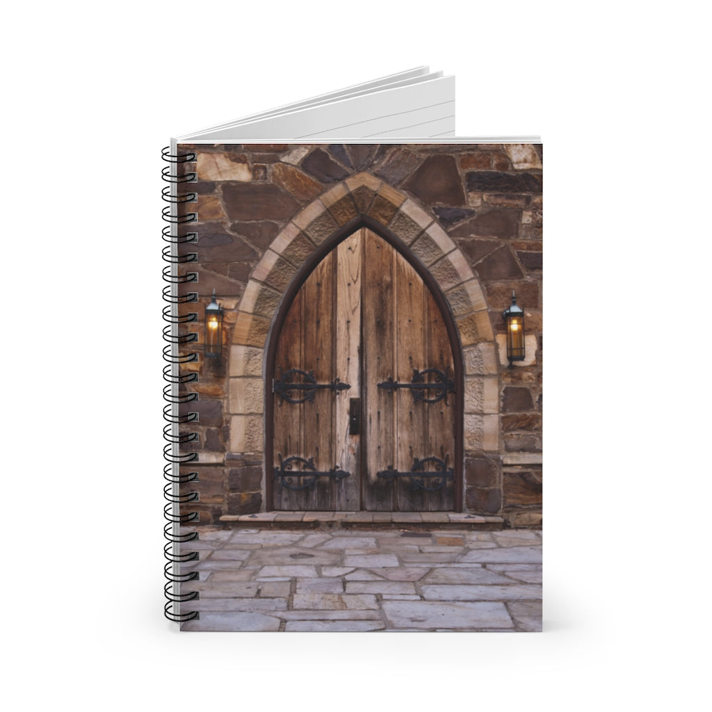 Spiral Notebook - Ruled Line - Church Doors