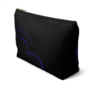 Accessory Pouch w T-bottom: Blue Smoke