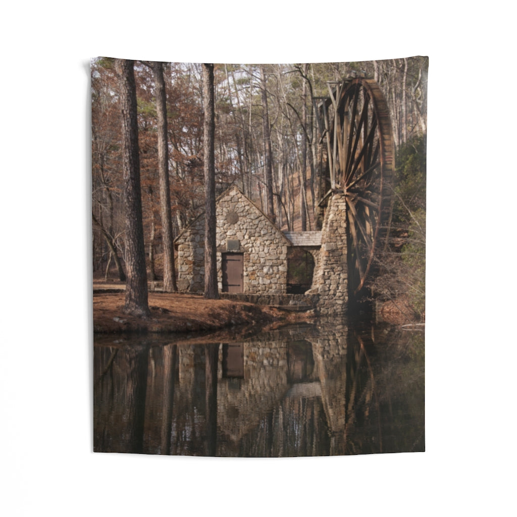 Indoor Wall Tapestries: Water Mill 2