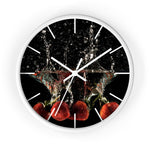 Wall clock: Strawberry Splash (with lines)