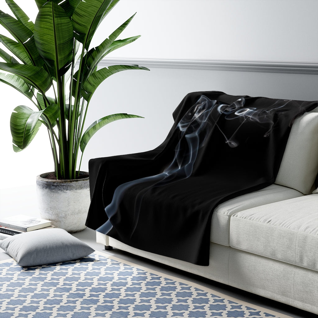 Sherpa Fleece Blanket: Swirly Smoke 4