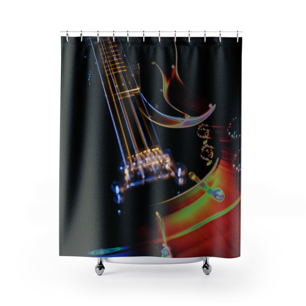 Shower Curtain: Guitar Lights