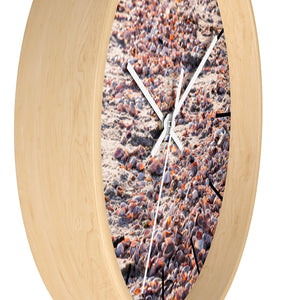 Wall clock: Pink Seashells (with lines)