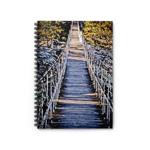 Spiral Notebook - Ruled Line - Hanging Bridge Painting