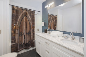 Shower Curtain: Church Doors
