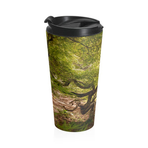 Stainless Steel Travel Mug: Twisty Tree