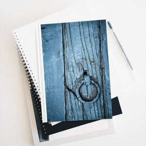 Journal - Blank - Blue Wooden Door