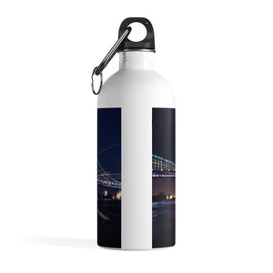 Stainless Steel Water Bottle: Benjamin Franklin Bridge at Night