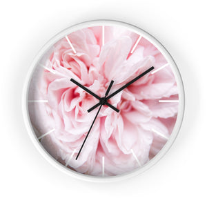 Wall clock: Pink Floral (with lines)