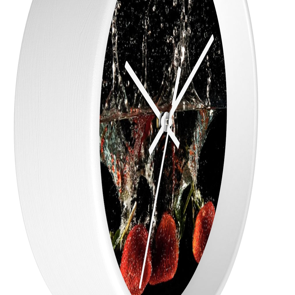 Wall clock: Strawberry Splash