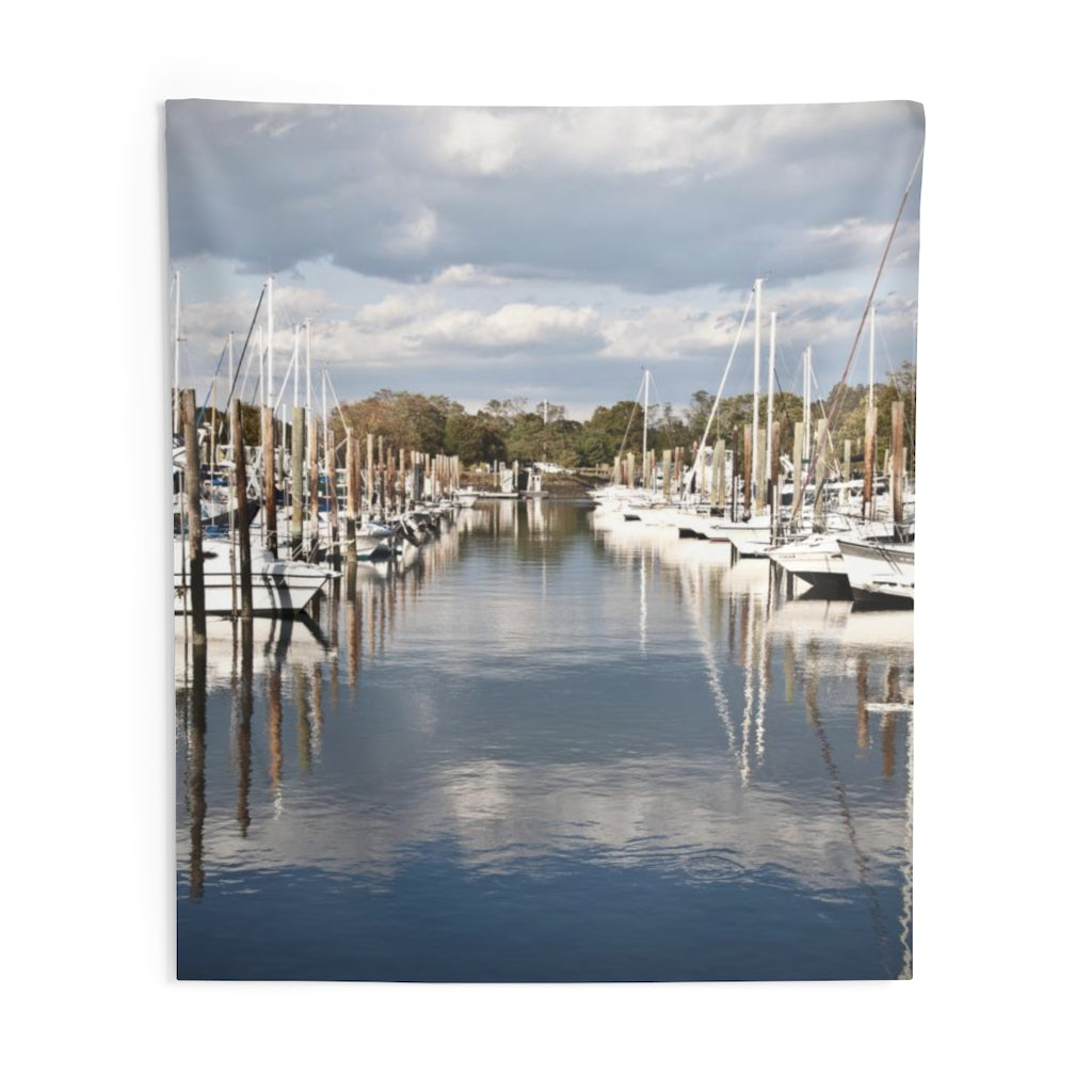 Indoor Wall Tapestry: Row of Boats