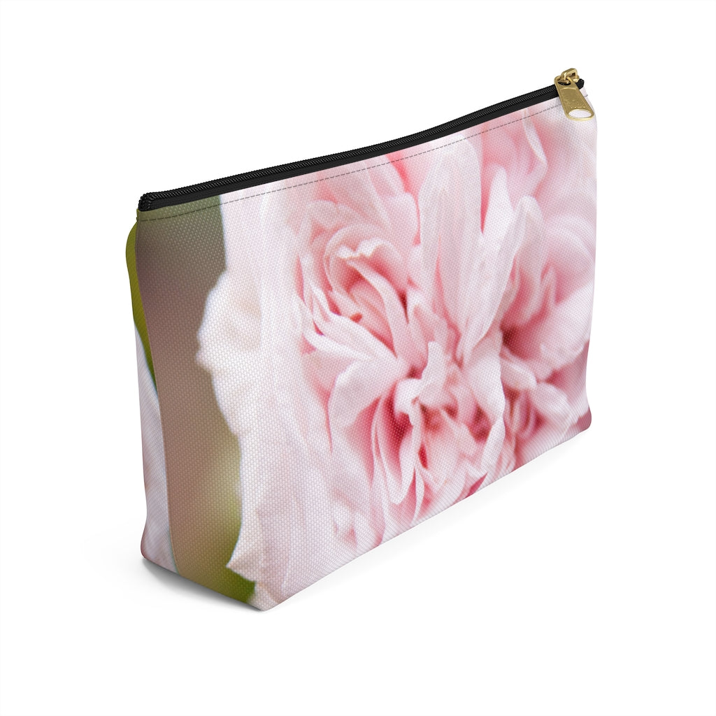 Accessory Pouch w T-bottom: Pink Flower