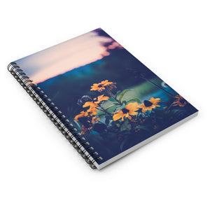 Spiral Notebook - Ruled Line - Sunset Flowers