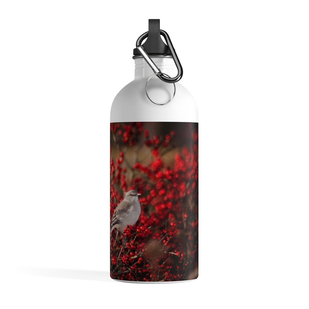 Stainless Steel Water Bottle: Birdie in the Berries