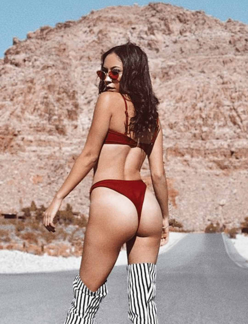 Zahara Swim Destiny Set / Maroon