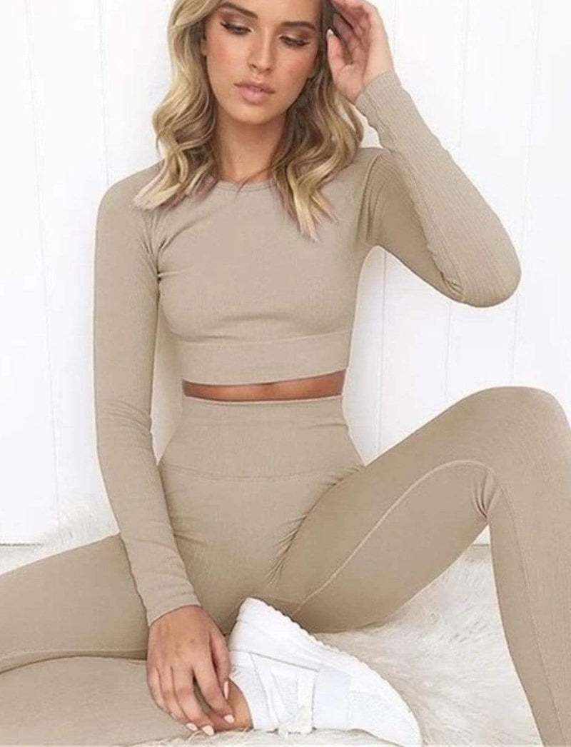 Zahara Swim fit Namaste Long Sleeve / Sand