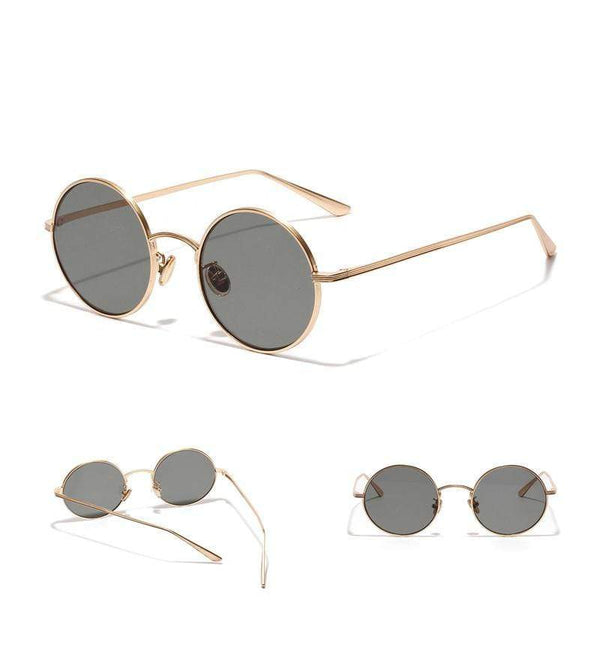 Zahara Swim Retro Show Shades | Grey/Gold