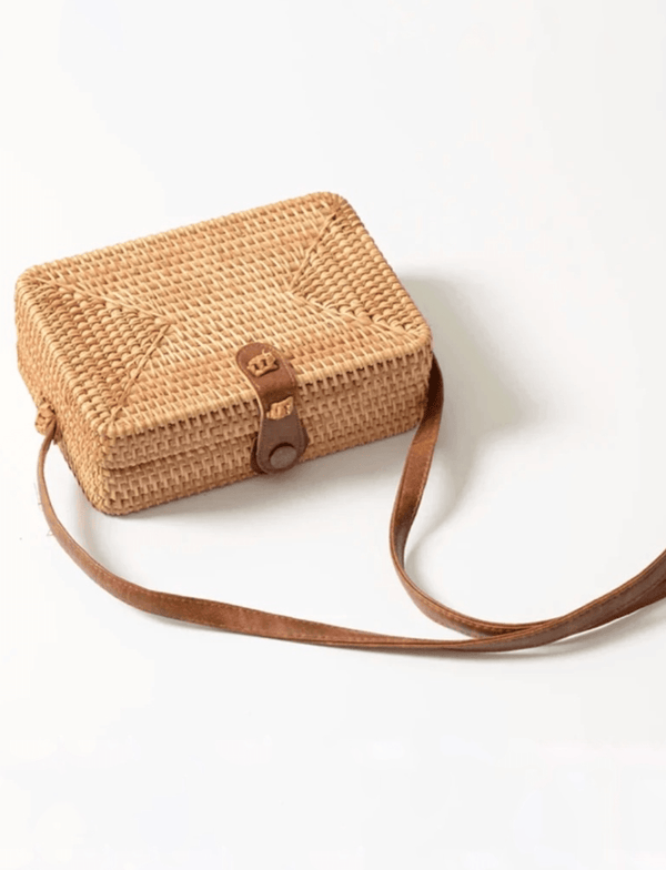 Zahara Swim The Ivy Rattan Bag / Rectangle