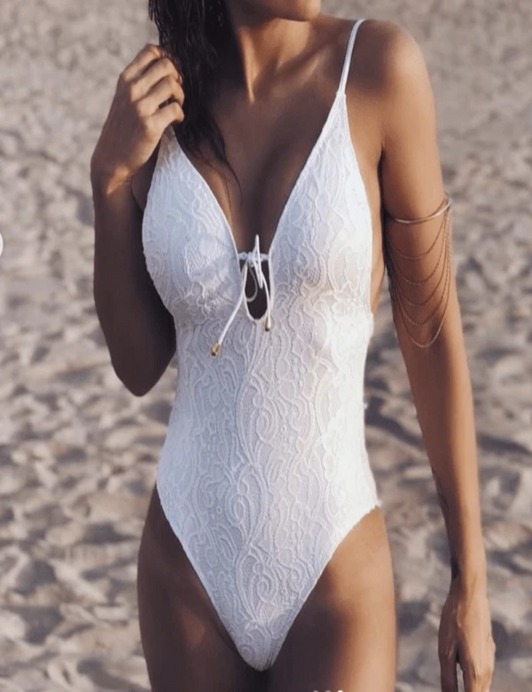 Zahara Swim White / L Bella Breeze One-Piece