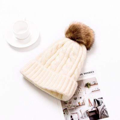 Zahara Swim White Pixie Pom Pom Beanie | 6 Colors
