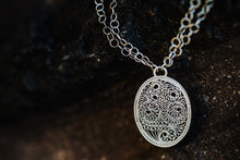 Load image into Gallery viewer, Oval Filigree Necklace