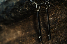 Load image into Gallery viewer, Steel Long Line Earrings