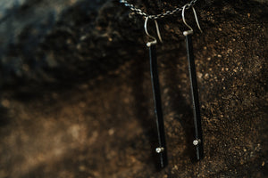Steel Long Line Earrings