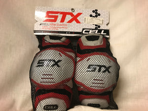 New STX Cell Size L Lacrosse Arm Guards