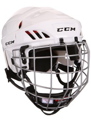New CCM CCM50 Combo Size S (SR) White Ice Hockey Helmet