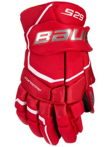 "New Bauer S29 Size 13"" Ice Hockey Red Gloves"
