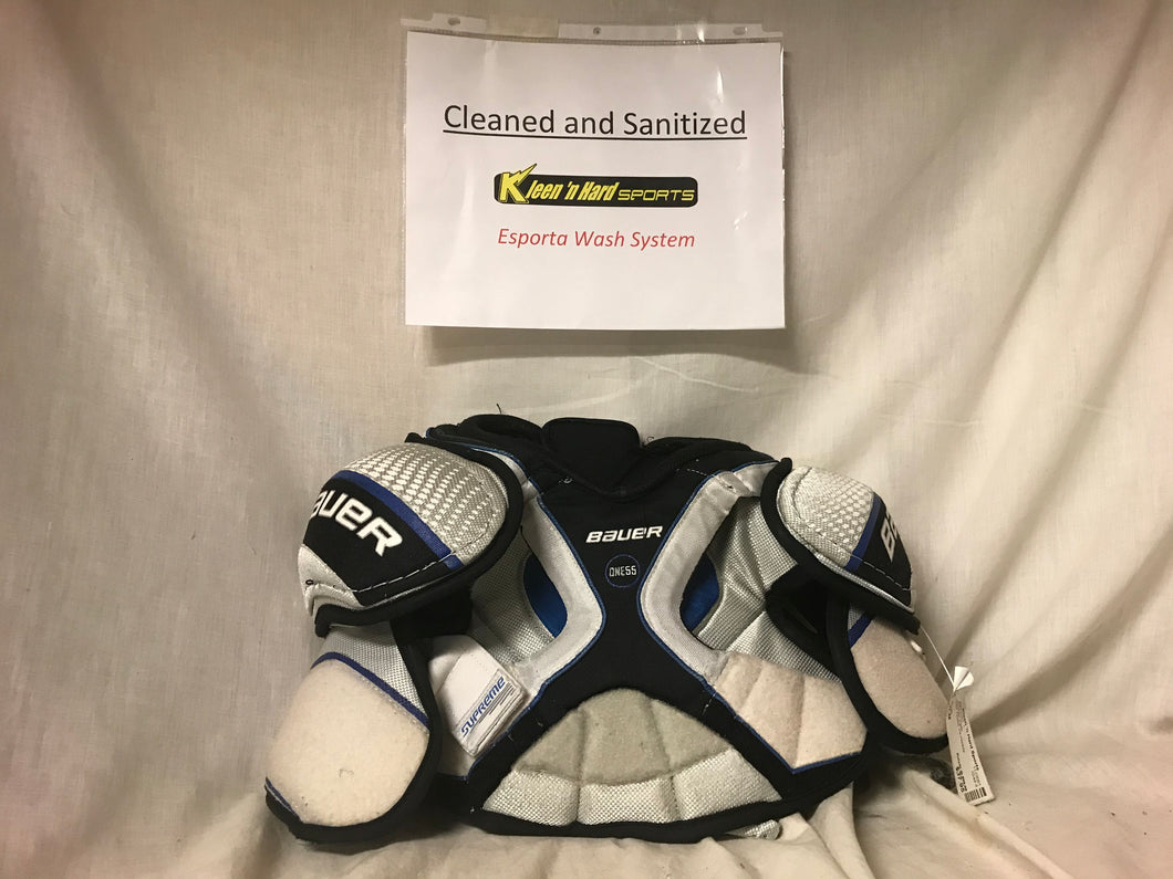 Used Bauer One55 Size Jr M Ice Hockey Shoulder Pads