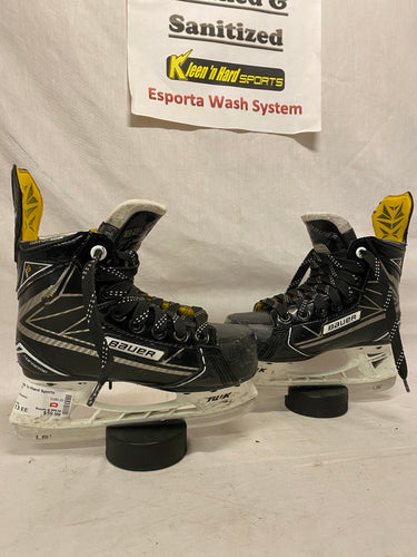 Used Bauer Supreme 1S Size YTH 13 EE Ice Hockey Skates