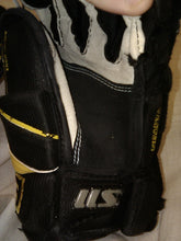 Used Easton S11 Size 11 Black/ Gold Ice Hockey Gloves