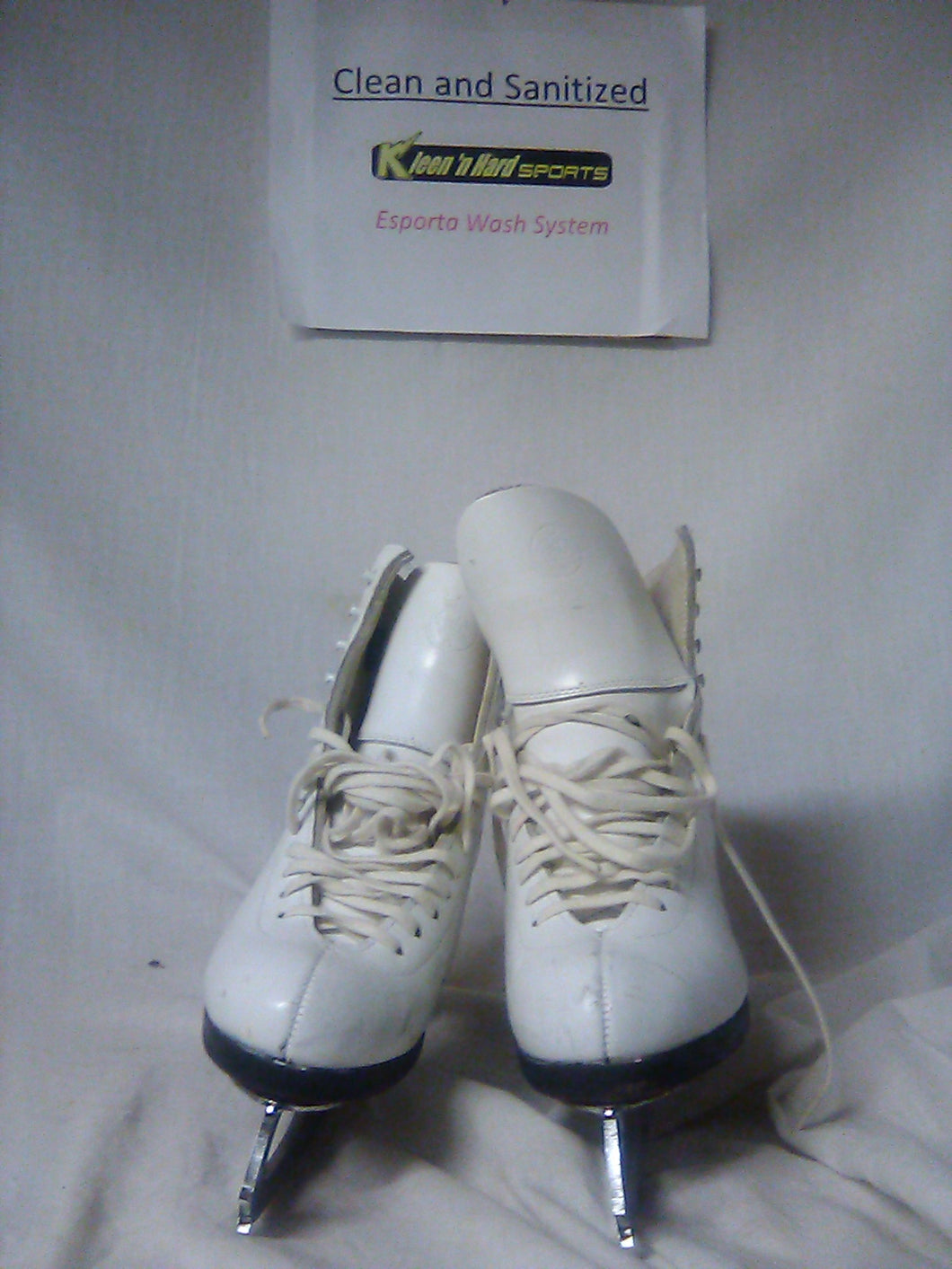 Used Riedell Gold Star 375 Size 5 C White Figure Skating Figure Skates