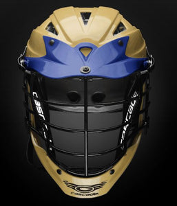 New Cascade CPX-R Size OSFM Old Gold/Navy Lacrosse Int Helmet
