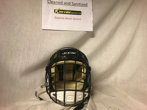 Used CCM 492 Tacks with cage Size S Black Ice Hockey Helmet